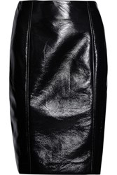 Jonathan Saunders Elina Vinyl Pencil Skirt Black