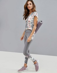 Ted Baker Fit To A T Blossom Legging With Mesh Panels Gunmetal Multi