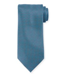 Stefano Ricci Square Diamond Grid Tie Navy