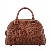 Maxwell Scott Bags Lilianas Croco Bowling Bag