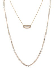 Lonna And Lilly Two In One Pendant Necklace White