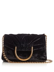 Stella Mccartney Nina Velvet Clutch Black