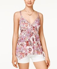 American Rag Printed Braided Strap Top Only At Macy's Multi Print