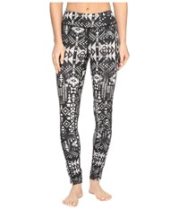 The North Face Pulse Tight Tnf Black Boho Al Over Print Prior Season Workout