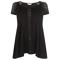 Windsmoor Jersey Lace Tunic Top Black