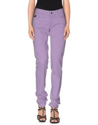 Blugirl Blumarine Denim Denim Trousers Women Lilac