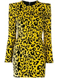 Alex Perry Velvet Leopard Print Dress 60
