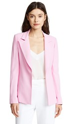 Brandon Maxwell Double Faced Jacket Pink