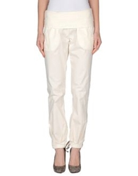 Manila Grace Denim Casual Pants Beige