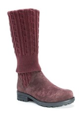 Muk Luks Kelby Faux Fur Lined Convertible Boot Red