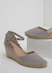Mint Velvet Orla Grey Espadrille Wedge Grey