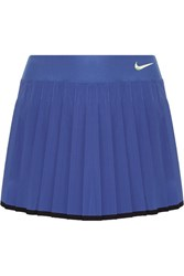 Nike Victory Pleated Dri Fit Stretch Tennis Skirt Blue