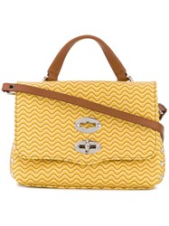 Zanellato Postina Baby Crossbody Bag Women Leather One Size Yellow Orange