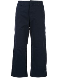 N 21 No21 Flared Cropped Trousers Blue