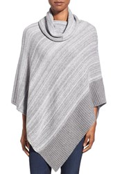 Women's Kinross Marled Cashmere Cowl Neck Poncho