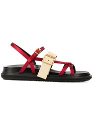 Marni Fussbett Sandals Red