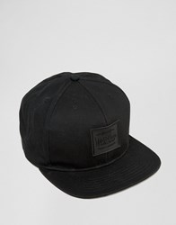 Artsac Workshop Snapback Cap In Black With Leopard Print Under Peak Detail Black