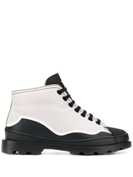 Camper Paneled Lace Up Boots Neutrals