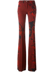 Philipp Plein Printed Flared Trousers