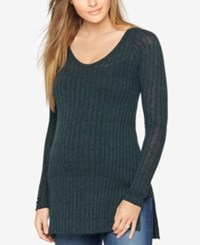 A Pea In The Pod Maternity Ribbed Tunic Green Black Marl
