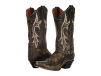 Dan Post Knockout Black Distressed Cowboy Boots