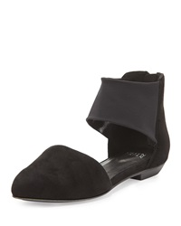 Allot Suede D'orsay Flat Black Eileen Fisher