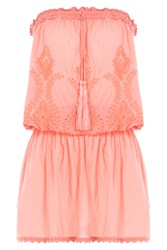 Melissa Odabash Strapless Fruley Dress Orange