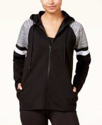 Material Girl Active Juniors' Colorblocked Hoodie Only At Macy's Black