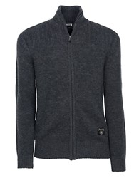 Jeep Zip Front Sweater Grey