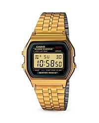 Casio Vintage Digital A159 Watch 36.8Mm 33.2Mm Black Gold