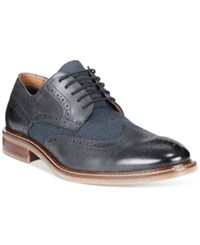 Alfani Travis Wingtip Derby Oxfords Only At Macy's Men's Shoes Navy