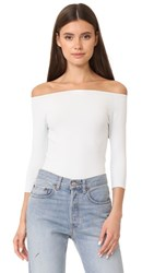 Helmut Lang Off Shoulder Long Sleeve Tee Waterfall