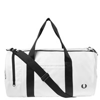 Fred Perry Twin Tipped Barrel Bag White