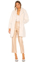 Kendall Kylie Peacoat With Sleeve Panel In Ivory. Ecru
