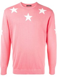 Guild Prime Star Embroidered Sweater Pink