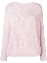 Max And Moi Cashmere Oversized Sweater Pink And Purple