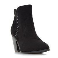 Head Over Heels Pandoro Whipstitch Heeled Ankle Boots Black