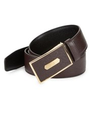 Dunhill Textured Leather Belt No Color