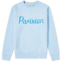 Maison Kitsune Parisien Crew Sweat Blue