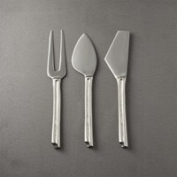Chai Silver Cheese Knives Set Of 3