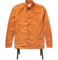 Marni Drawstring Shell Jacket Orange