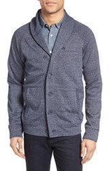 Nordstrom Men's Men's Shop French Terry Shawl Cardigan Navy Dusk Heather