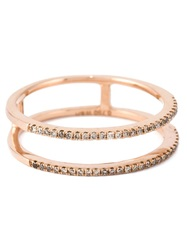 Wouters And Hendrix Gold Diamond Double Stacked Ring Metallic