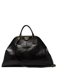 Gucci Re Belle Large Top Handle Leather Tote Black