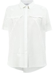 Maison Ullens Boxy Short Sleeved Shirt White