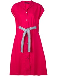Sofie D'hoore Belted Shirt Dress Pink And Purple