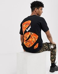 Aape By A Bathing Ape T Shirt With Large Camo Back Print In Black