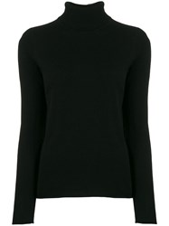 Majestic Filatures Knitted Turtle Neck Black