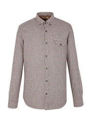 Gibson Check Tailored Fit Long Sleeve Shirt Brown