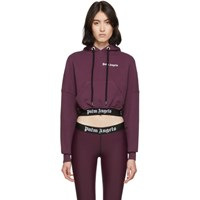 Palm Angels Purple Cropped New Basic Hoodie